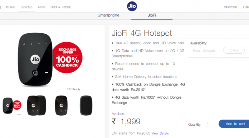 Reliance Jio offers 100% cashback on JioFi device: Here are terms, conditions